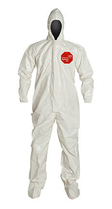 DuPont Tychem' 4000 White Coverall - SL122T WH BN