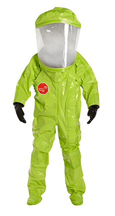 DuPont Tychem' 10000 Lime Yellow Coverall - TK554T LY 7S