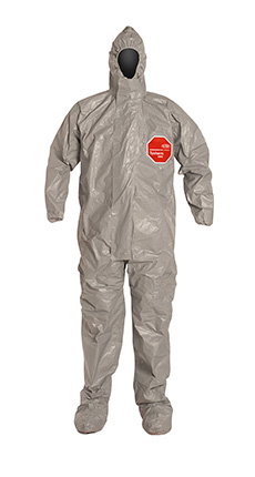 DuPont Tychem' 6000 Gray Coverall - TF169T GY TV