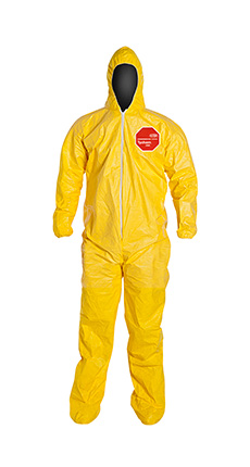 DuPont Tychem' 2000 Yellow Coverall - QC122S YL