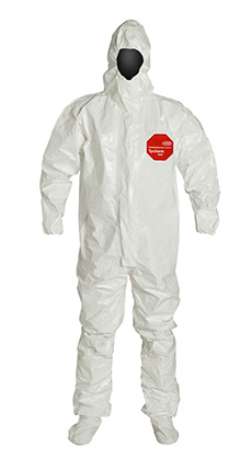 DuPont Tychem' 4000 White Coverall - SL128T WH BF