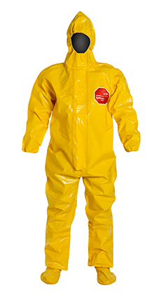 DuPont Tychem' 9000 Yellow Coverall - BR128T YL BOOT & BUTYL