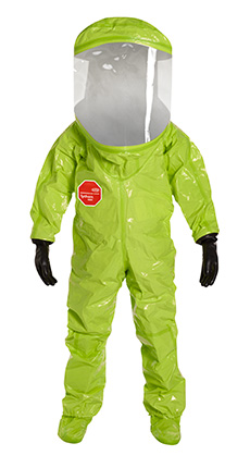 DuPont Tychem' 10000 Lime Yellow Coverall - TK555T LY 7S