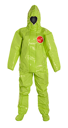 DuPont Tychem' 10000 Lime Yellow Coverall - TK128T LY