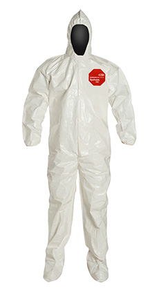 DuPont Tychem' 4000 White Coverall - SL122B WH BN