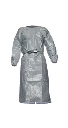 DuPont Tychem' 6000 Gray Gown - TYFPL5 0S
