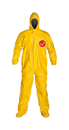 DuPont Tychem' 2000 Yellow Coverall - QC122T YL
