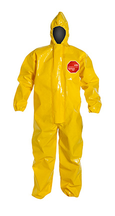 DuPont Tychem' 9000 Yellow Coverall - BR127T YL BN