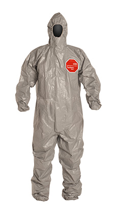 DuPont Tychem' 6000 Gray Coverall - TF145T GY TV