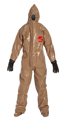 DuPont Tychem' Responder' CSM Tan Coverall - RC128T TN BOOT