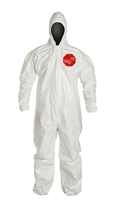 DuPont Tychem' 4000 White Coverall - SL127T WH
