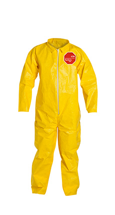 DuPont Tychem' 2000 Yellow Coverall - QC120S YL