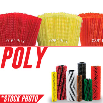 """43592: 38"""" Cylindrical Brush 24 Single Row Soft Poly fits Various Tennant Models"""