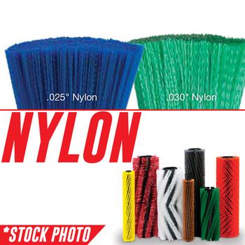 "66020: 49.5"" Cylindrical Brush 8 Double Row Nylon fits Tennant Models 800, 810, 97"