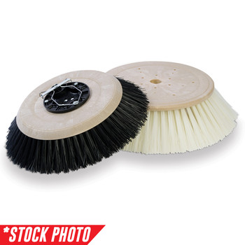 """41673: 6"""" Side Broom 2 Single Row Poly  fits Tennant Models 140, 28B, 37B, 510E"""