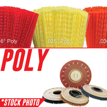 """05729, 1042494, 1220231: 12"""" Rotary Brush .040"""" Poly fits Tennant Models 1465, 465, T12, T16"""