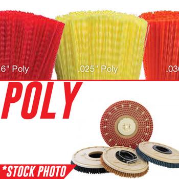 "1220237, 222320: 14"" Rotary Brush .028"" Poly fits Tennant Models 5680-700D, 5700-700D, 7100D 28"", 7200 Tight Aisle, T20"