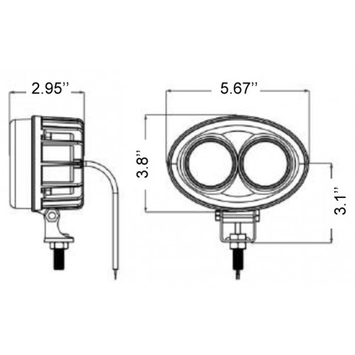 P9090: BLUE FORKLIFT SAFETY LIGHT (12-96V)