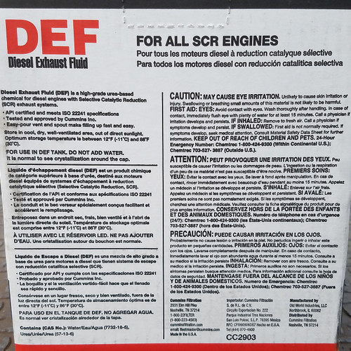 Fleetguard Diesel Exhaust Fluid (DEF) 2.5 Gallons