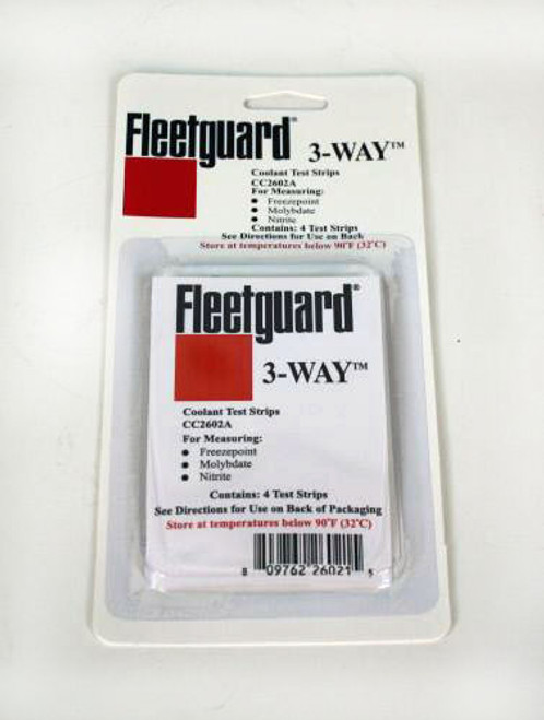 CC2602A: Fleetguard 4 Pk 3-Way Strips Coolant Test Kit
