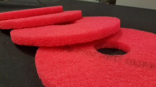 3M 5100 Red Buffer Pads 14 Inch (5 Pack)