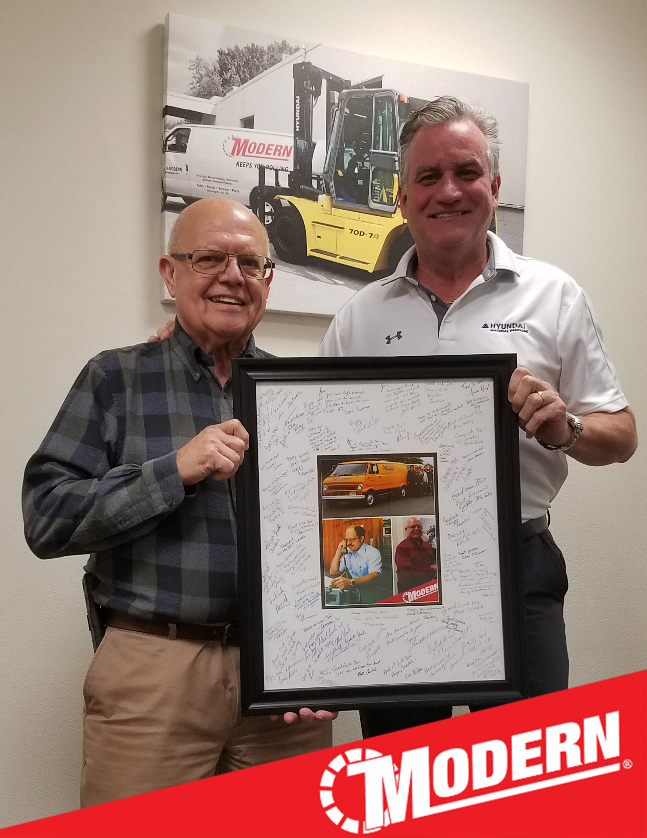 JOE DUTKO, SAFETY DIRECTOR AND FACILITIES MANAGER, RETIRES FROM MODERN GROUP AFTER 43 YEARS