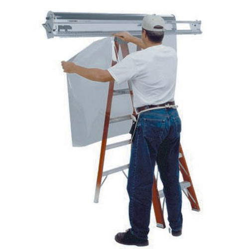 GT911 – 72″ Film Handler The Film Handler comes standard with 2 each Cutter Head Assembly (GT912), 2 each 3″ Roller Assembly (GT904) and one pack of blades (GT943). Includes Metric and Imperial measurements. LADDER NOT INCLUDED