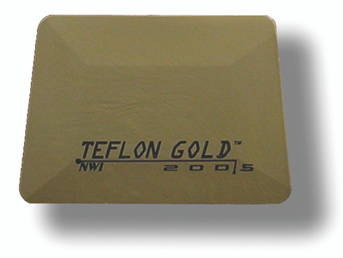 GT086GLD – Gold Hard Card Squeegee 4""
