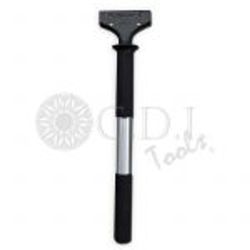 """GT057 – 5″ FUSION STRETCH HANDLE The 5″ Fusion Stretch  handle is the latest design for installing flat glass and security films.  This handle features a 14 ½"""" metal extension and two rubber grip sections for maximum water removal."""