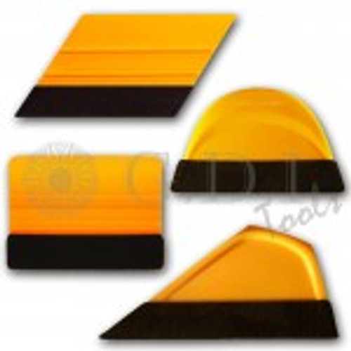 GT1085 – Mango Pro Pack with Felt This four pack applicator set includes the Mango Rebel, Bump Card, Smart Card and Little Foot all with extreme glide felt edge making them perfect for paint protection, vinyl signs and graphic installs.