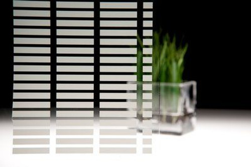 3M Fasara™ Glass Finishes   Lattice (Stripe/Border | SH2FGLT)    Transform plain glass by capturing the look of etched, cut, sandblasted and textured glass at a lower cost Tailor the amount of privacy a space possesses Fast, accurate, durable application to a variety of substrates Constructed from durable and flexible polyester materials  Available in 90+ decorative patterns, 3M™ FASARA™ Glass Finishes not only enhance interior aesthetics, but also help control light and privacy. These durable films provide the advantage of etched, cut, sandblasted, and textured glass at a fraction of the cost.  Suggested Applications Use to transform conference rooms, lobbies, retail environments, partitions, verandas, or private offices