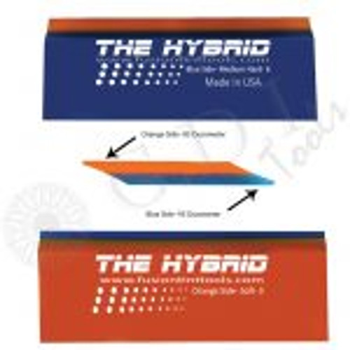 GT2101 – 5″ Hybrid Squeegee On one side the Hybrid is an orange 85 durometer squeegee blade and on the other side a harder blue 95 durometer. This dual blade features double beveled working edges. Simply flip the blade in your Fusion Handle to use one side or another.