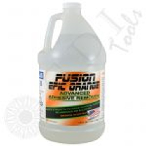 GT2112-Fusion Epic Orange Adhesive Remover (Gallon) Epic Orange Adhesive Remover is specifically formulated to break down adhesive used in window films, paint protection films and vinyl. Simply spray the desired area and watch the adhesive breakdown. No alcohol and no ammonia! GALLON