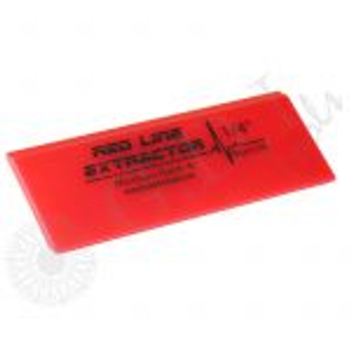 GT2114 – 5″ Red Line Extractor 1/4″ Thick Double Beveled Squeegee Blade The Fusion 5″ Red Line Extractor Squeegee Blade is 1/4″ thick with a durometer of 95. Each working side of the blade is beveled which allows the blade to last longer.  These extractor blades provide great liquid removal with every pass.  Use with any of the standard 5″ Fusion Handles.