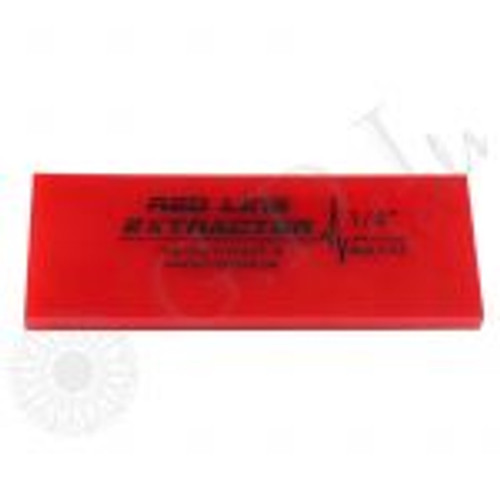 GT2114B – 5″ Red Line Extractor 1/4″ Thick No Bevel Squeegee Blade The Fusion 5″ Red Line Extractor Squeegee Blade is 1/4″ thick with a durometer of 95. These extractor blades provide great liquid removal with every pass.  This no bevel squeegee gives you four working edges! Use with any of the standard 5″ Fusion Handles.