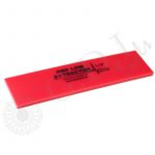 GT2115B – 8″ Red Line Extractor 1/4″ Thick No Bevel Squeegee Blade The Fusion 8″ Red Line Extractor Squeegee Blade is 1/4″ thick with a durometer of 95. These extractor blades provide great liquid removal with every pass.  This no bevel squeegee gives you four working edges! Use with any of the standard 8″ Fusion Handles.