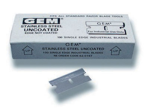 GT137 – Stainless Steel 1″ Single Edge Blades
