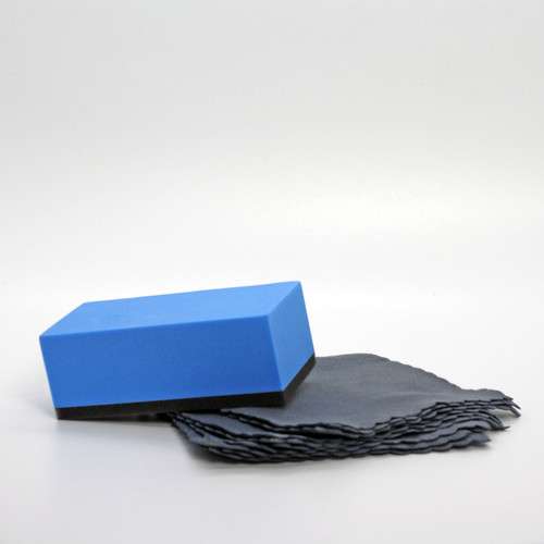 SharpShield Foam Applicator Block + 10 Suede Cloths