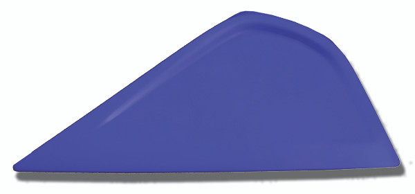 GT044BLUE – Blue Little Foot This squeegee measures about 6″ (15 cm) along the usable edge. The pointed edge of this tool allows the installer to squeegee in very tight areas. The Little Foot has plenty of room to keep a good grip on the squeegee.