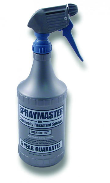GT090 – Spraymaster Bottle and Trigger An overall heavy duty sprayer, this spray bottle comes with a 5 year warranty and is chemically resistant. It is equipped with a strong trigger and holds 32 ounces.