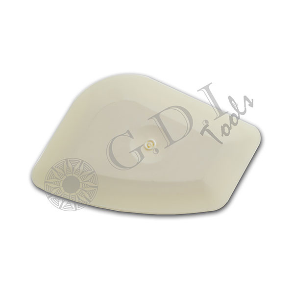 """GT083W – White Chizzler Ideal for removing decals, film or adhesive from sensitive surfaces. Use for pressing down small film creases or air bubbles. The White Chizzler is slightly larger, has thicker edges and is harder than the original pink """"Lil Chizler""""."""