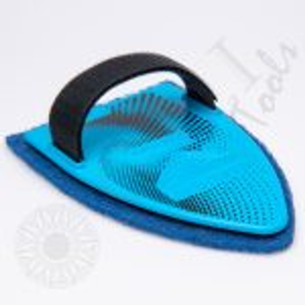 GT2120B – Scrub-It Blue w/Blue Pad The SCRUB-IT is a hand-held scrubbing tool that uses the leverage of the back of your hand to clean glass from contaminants or adhesive residue. The SCRUB-IT allows you to use your hand to reach in most places and scrub evenly throughout. Scrub-It is a one size fits all as it can be adjusted to all hand sizes with the attached Velcro strap. The Blue Scrub-It (GT2120B) comes with a Blue color scrub pad that is more aggressive and used for removing adhesive from the glass. *Please make sure to check newer vehicles for factory coatings that are applied to the inside of the glass that might be damaged by the Scrub-It.