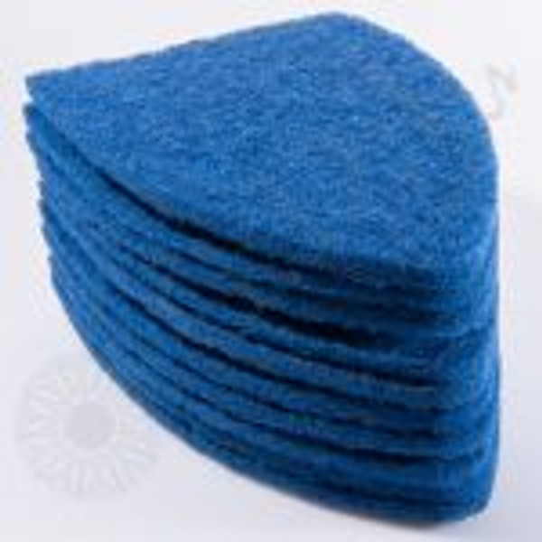 GT2121B – SCRUB-IT Pads- Blue (10 pack) The Blue SCRUB-IT replacement pads come in a 10 pack. The blue pads are more aggressive and used for removing adhesive residue from glass. The pads are made of scratch resistant material but use with caution. Test on a small part of glass before use as not all glass is made the same! Please make sure to check newer vehicles for factory coatings that are applied to the inside of the glass that might be damaged by the SCRUB-IT.
