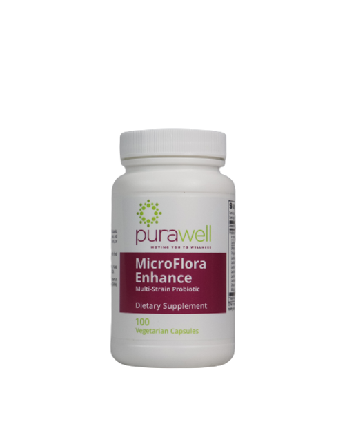 MicroFlora Enhance, Multi-Strain Probiotic, 100 Vegetarian Capsules