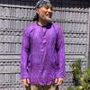 Lighweight cotton Ram Nam shown in Purple