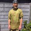 Lighweight cotton Ram Nam shown in Moss Green