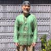 Lighweight cotton Ram Nam shown in Bright Green