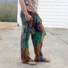 Aman Cotton Stonewash Ohm Print Patchwork Men's Cargo Pants
