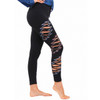 Cassidy Cotton Lycra Leggings With Razor Cut Bolts And Print