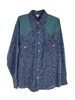 Cotton Long Sleeve Button Up Shirt With Bolt Print